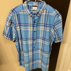 Columbia Short Sleeve Button Down-Large